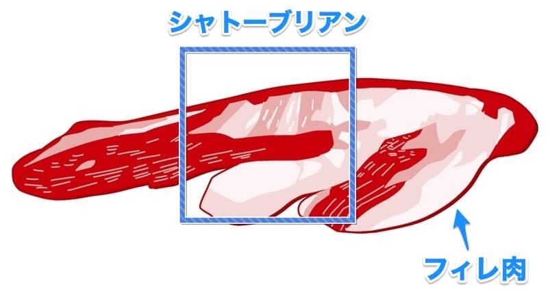 シャトーブリアンとフィレ肉の違い
